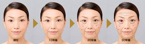 肌年齢の推移イメージ
